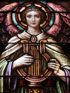 Angel from St  Cecelia Window