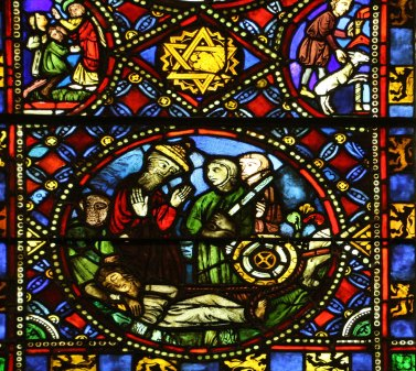 Detail Scenes from The Life of St. Catherine of Alexandria France 13th Century