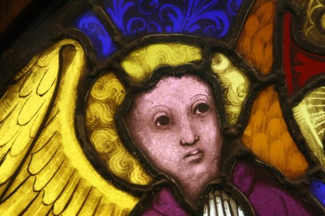 Angel, detail from God the Father yellow