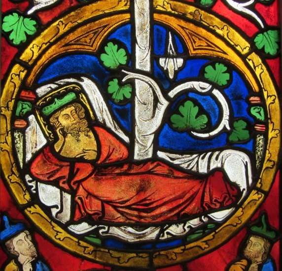 Tree of Jesse window, German, 1280-1300
