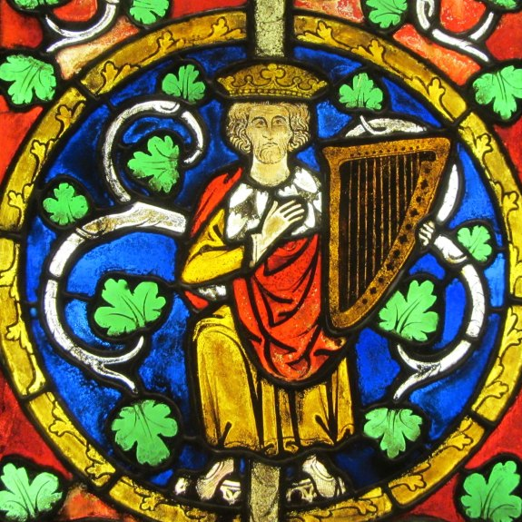 David From Tree of Jesse window, German 1280-1300