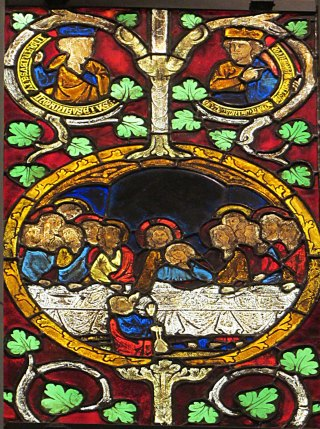 Last Supper from Tree of Jesse, Swabia 1280-1300